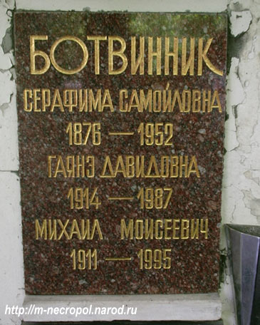 Умер 5 мая 1995 г похоронен в г москве на