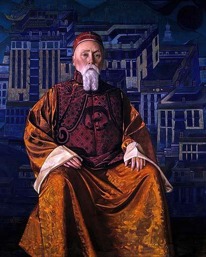 Картинки по запросу Николай Рерих в виде Далай-Ламы